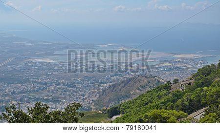 Sicilian Coast And City Of Trapani