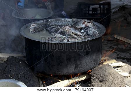 The Fish-soup In Caldron