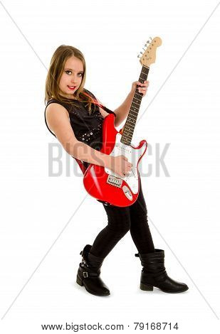 Young Music Student Girl Guitar Player