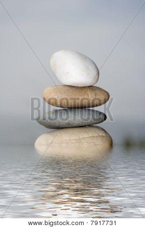 Pile Of Balanced Sand Stones