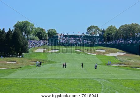 Farmingdale, Ny - June 15: The 18Th Hole On Bethpage State Park's Black Course