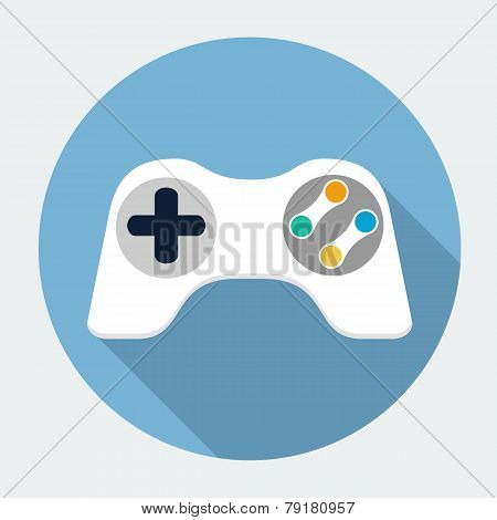 Gamepad icon, design element for mobile and web applications, eps 10 poster