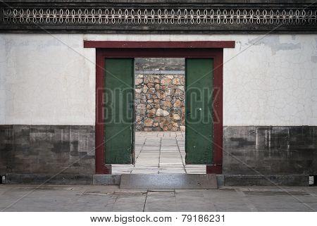 Old Wood Door In China