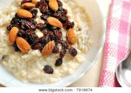 Top View Of Breakfast Oatmeal