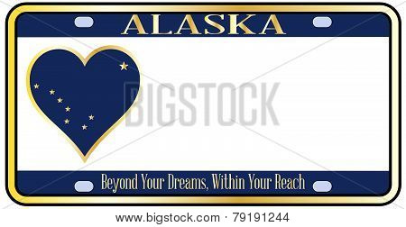 Alaska State License Plate