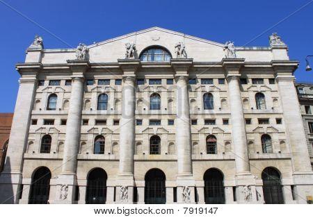 The Italian Stock Exchange in Milan