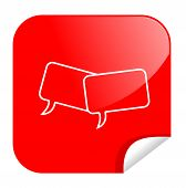 illustration of a button to chat in internet poster