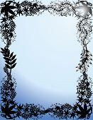 Illustration of decorative frame poster