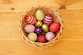 Eggs In Easter Basket