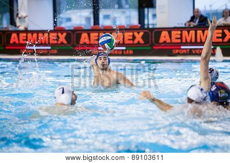 Brescia - April   7: M. Luongo  ( Blue Cap, Bpm Sport Management) In Game Bpm Sp. Management Vs An B