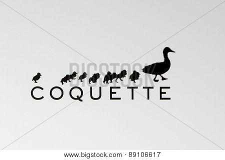 LOS ANGELES - FEB 20:  Coquette Productions emblem, Coquette Productions, a production company created by David Arquette, Courteney Cox -