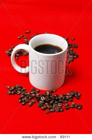 Coffe Cup And Beans 1