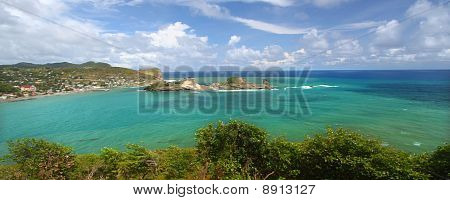 Beautiful Dennery Bay on the Caribbean island of Saint Lucia. poster