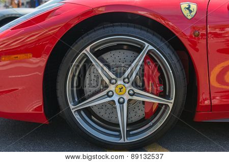 Ferrari Wheels On Display