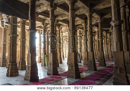 Ahmedabad, India - December 28, 2014: Jama Masjid Mosque In Ahmedabad, Gujarat
