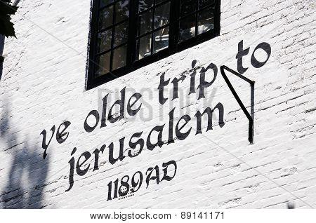 Ye Olde Trip to Jerusalem Inn, Nottingham.
