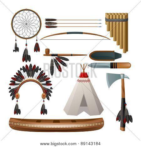 Ethnic american indigenous set