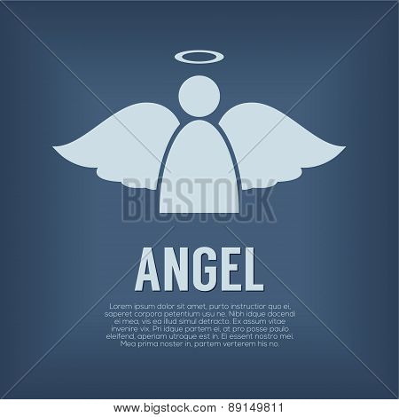 Single Angel Symbol.