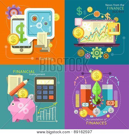 Mbanking, Finance Market, Management