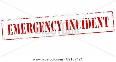 Rubber stamp with text emergency incident inside vector illustration