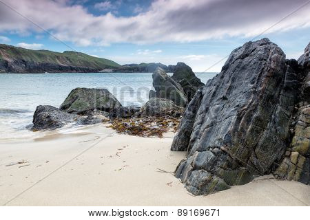 Mangersta Beach on a spring day on the Isle of Lewis and Harris, Outer Hebrides, Scotland