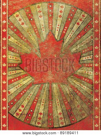 Retro Grunge Canada Poster Background