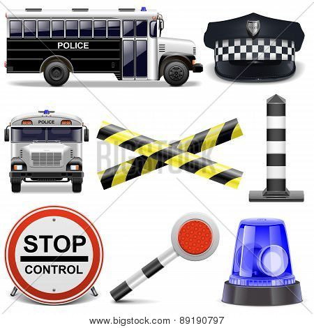 Vector Police Icons