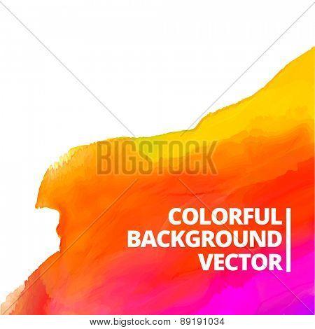 colorful watercolor vector background design illustration