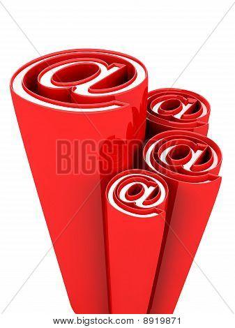 Email Alias Concept Symbol Decorative Design Element