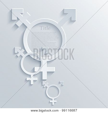 vector modern light transgender symbol background