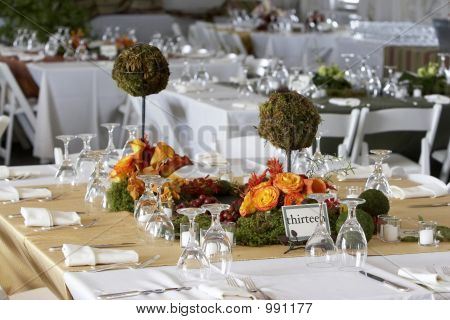 Dining Table Set For A Wedding Or Corporate Event