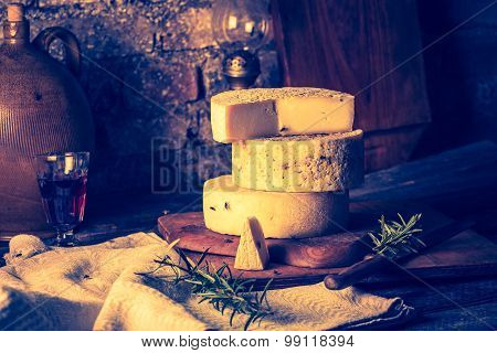 Vintage Photo Of Still Life With French Goat Cheese