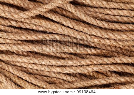 Old marine rope texture background