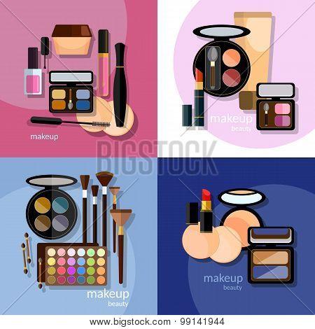 Make-up Cosmetic Cosmetology Nail Polish Eye Shadow Lip Liner Lipstick Proffesional Makeup