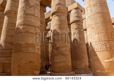Great Hypostyle Hall Of The Temple Of Karnak