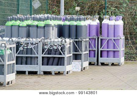 Gas Bottle Locker A Gas Factory In Hattingen