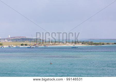 Commercial Jet Landing At Aruba