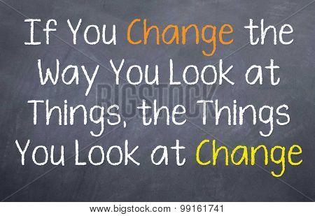 Change the Way You Look