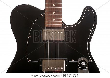 Strings black electric guitar in the large approximation poster