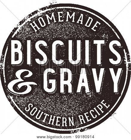 Biscuits and Gravy Vintage Menu Sign