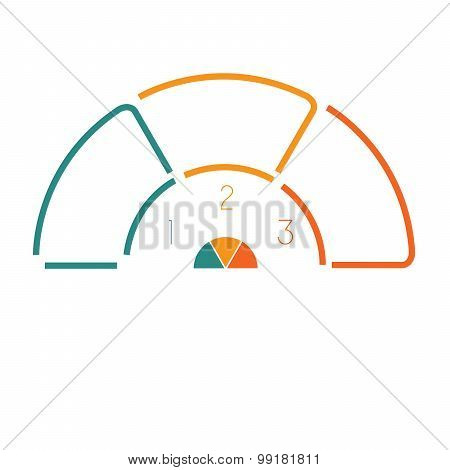 Lines Semicircle Infographic 3 Positions