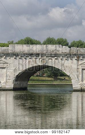Close Up Of The Roman Bridge