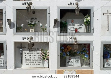 Crypt spaces of the Cemetery of Mertola