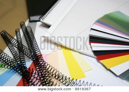 binding materials and colorchart