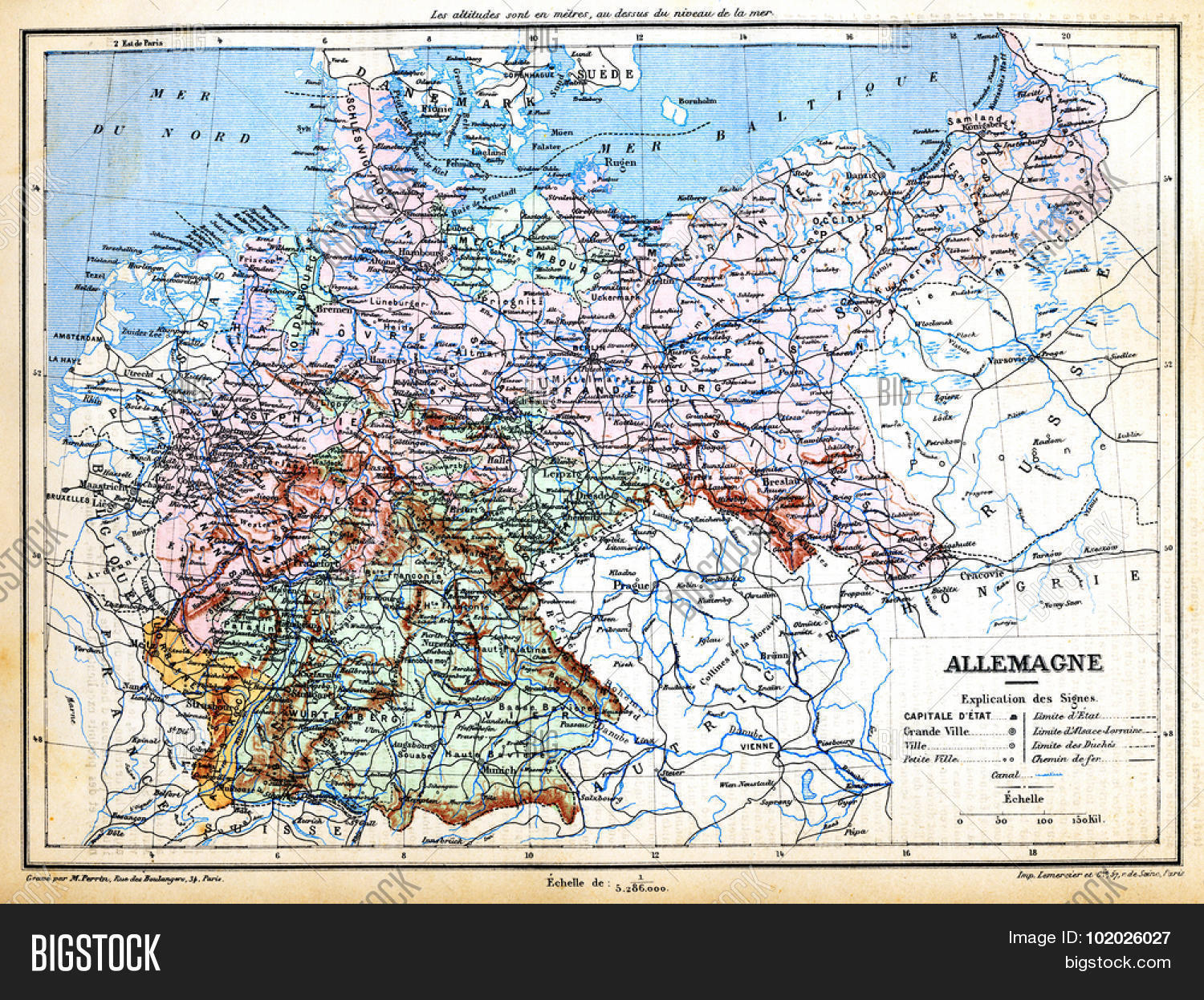 Map Of Germany Late 1800s.Map Germany Signs Image Photo Free Trial Bigstock