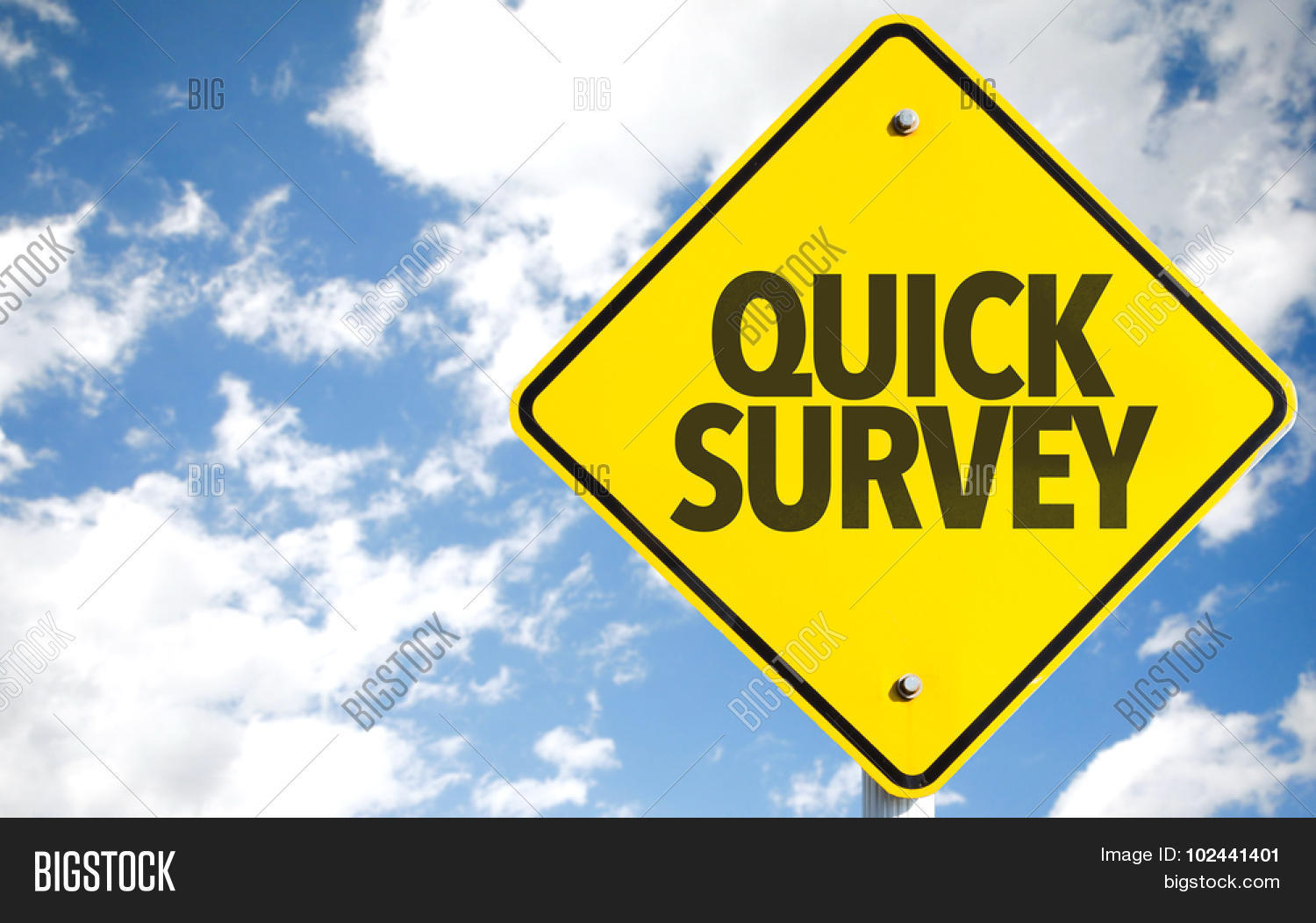 quick survey sign sky image photo free trial bigstock