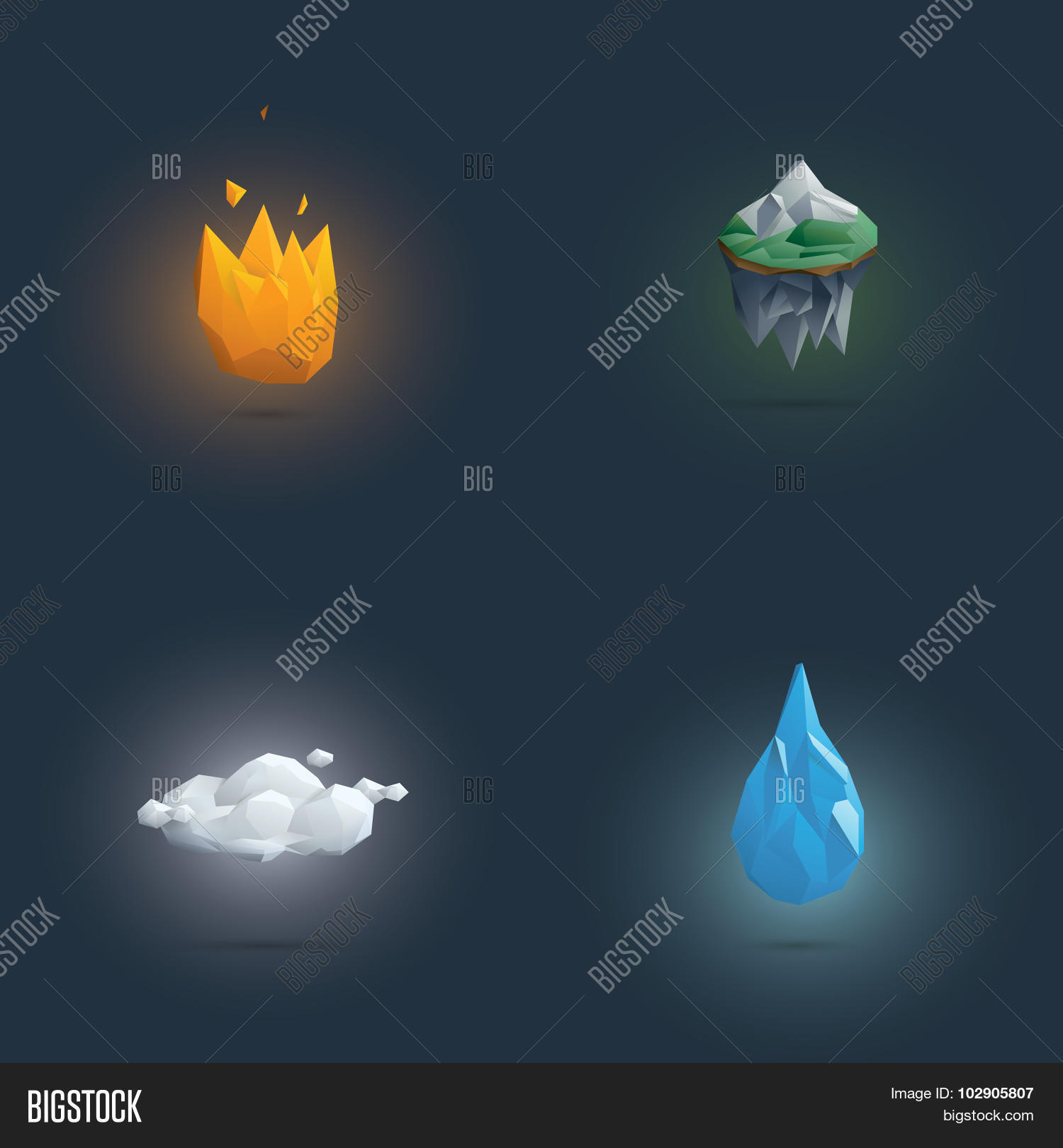 Low Poly Four Vector Photo Free Trial Bigstock