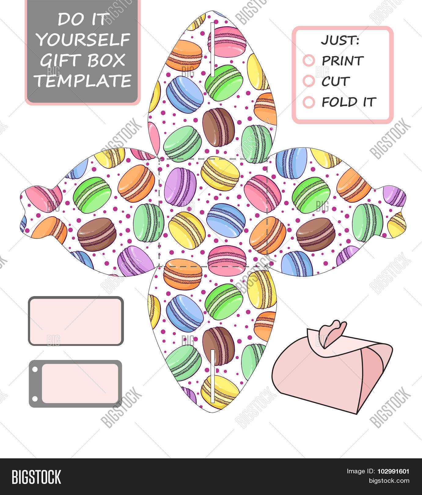 Favor Gift Box Die Vector & Free Trial