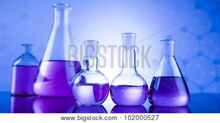 Laboratory glass, Chemistry science concept