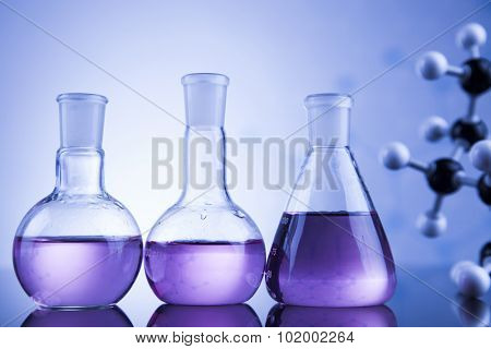Science concept, Chemical laboratory glassware poster